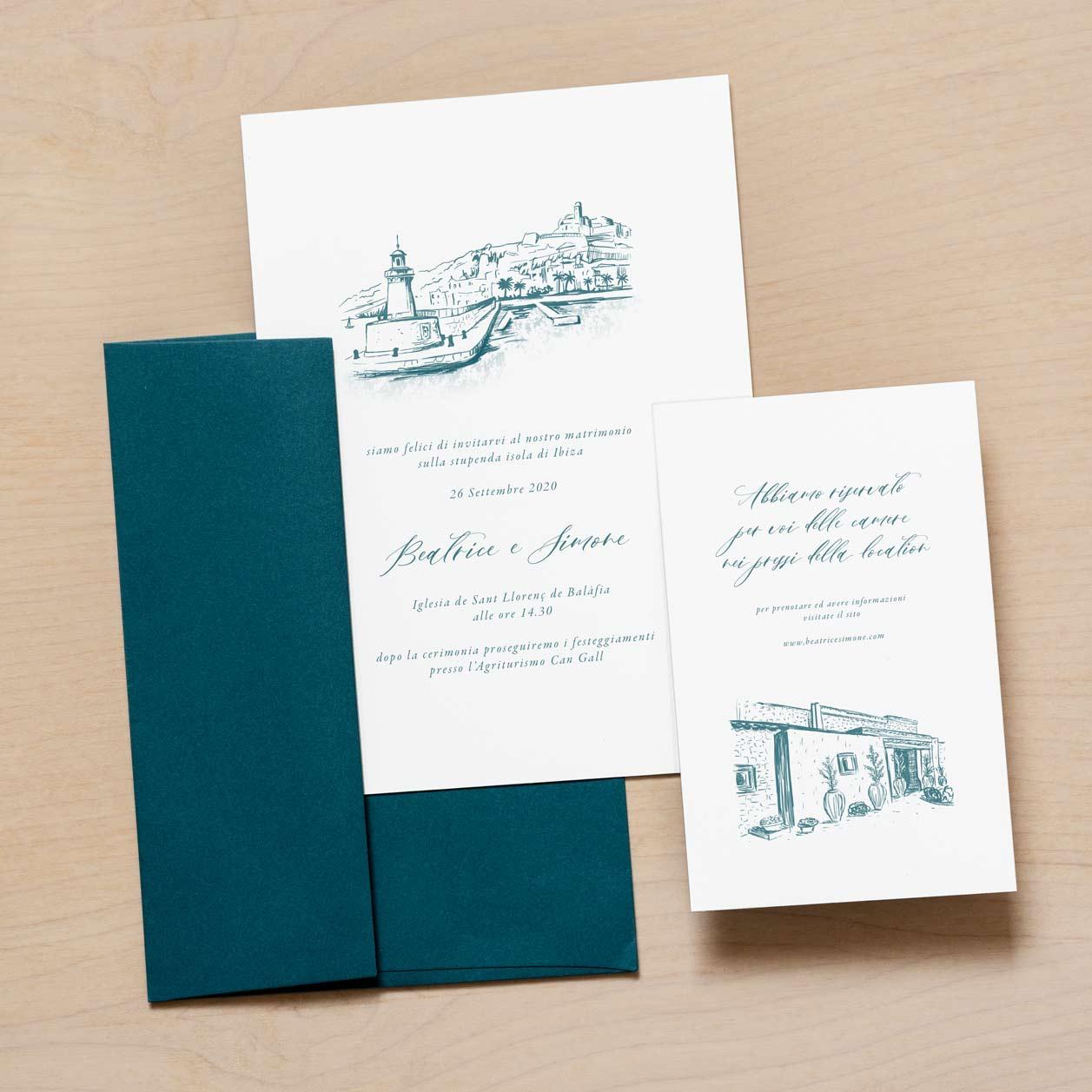 Illustrazione-Disegno-Partecipazione-Invito-Nozze-Matrimonio-2020-Personalizzate
