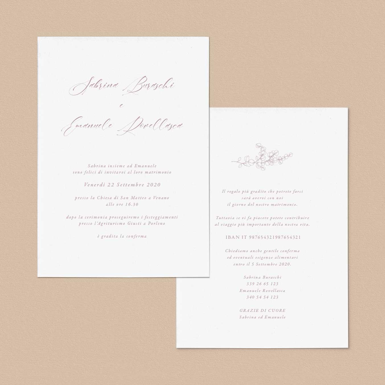 Iniviti-partecipazioni-Vintage-matrimonio-calligrafia-natural-natura-corsivo-elegante-fiori-fiore-flower