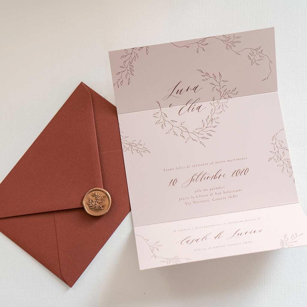 Inviti-Moderni-Nozze-Partecipazioni-Personalizzate-Sigillo-Ceralacca-Timbro-Oro-Rustico-Vintage-Costo