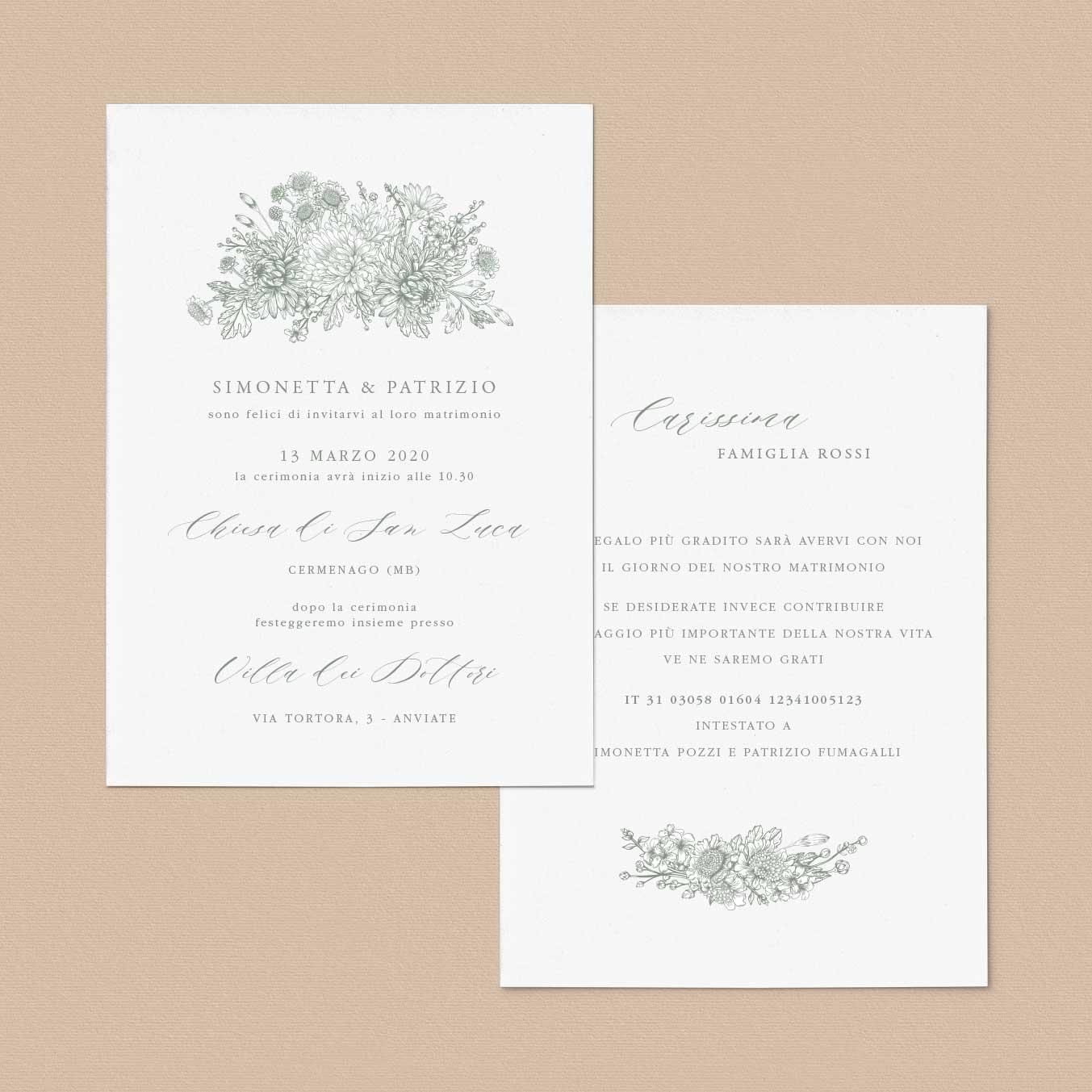 Inviti-di-matrimonio-partecipazioni-di-nozze-fiori-girasoli-tulipani-peonie-shabby-chic-tema-particolare-elegante