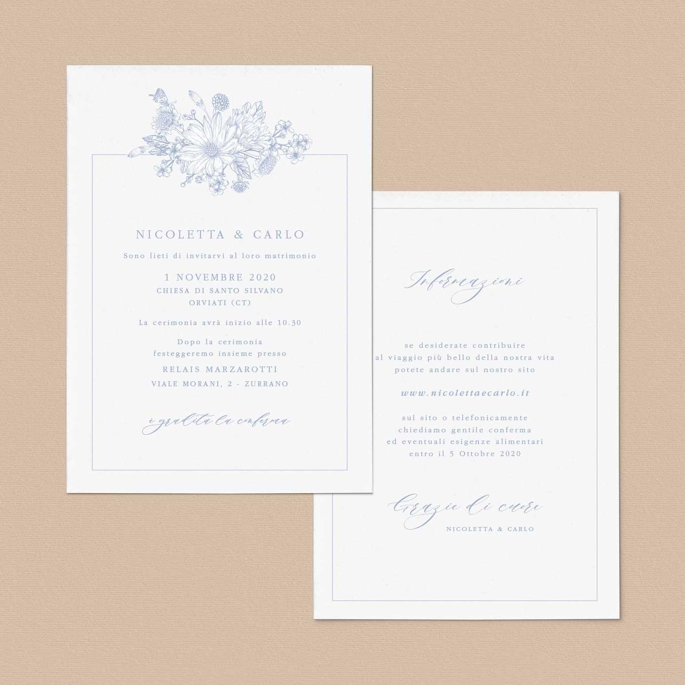 Inviti-di-matrimonio-partecipazioni-di-nozze-fiori-girasoli-tulipani-peonie-shabby-chic-tema