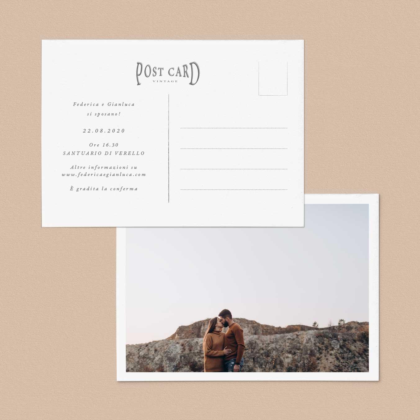 Inviti-partecipazioni-matrimonio-nozze-wedding-invitation-cartolina-postcard-vintage-particolare-montagna-tema-mountain-originale-idee-francobollo-stampa-modelli
