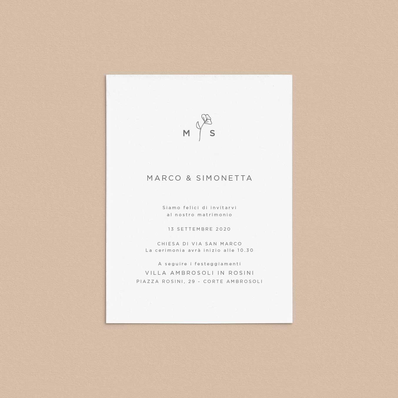 Invito-partecipazione-matrimonio-wedding-nozze-fiori-semplice-moderno-pop-elegante-modern-chic-fiorellini-natura