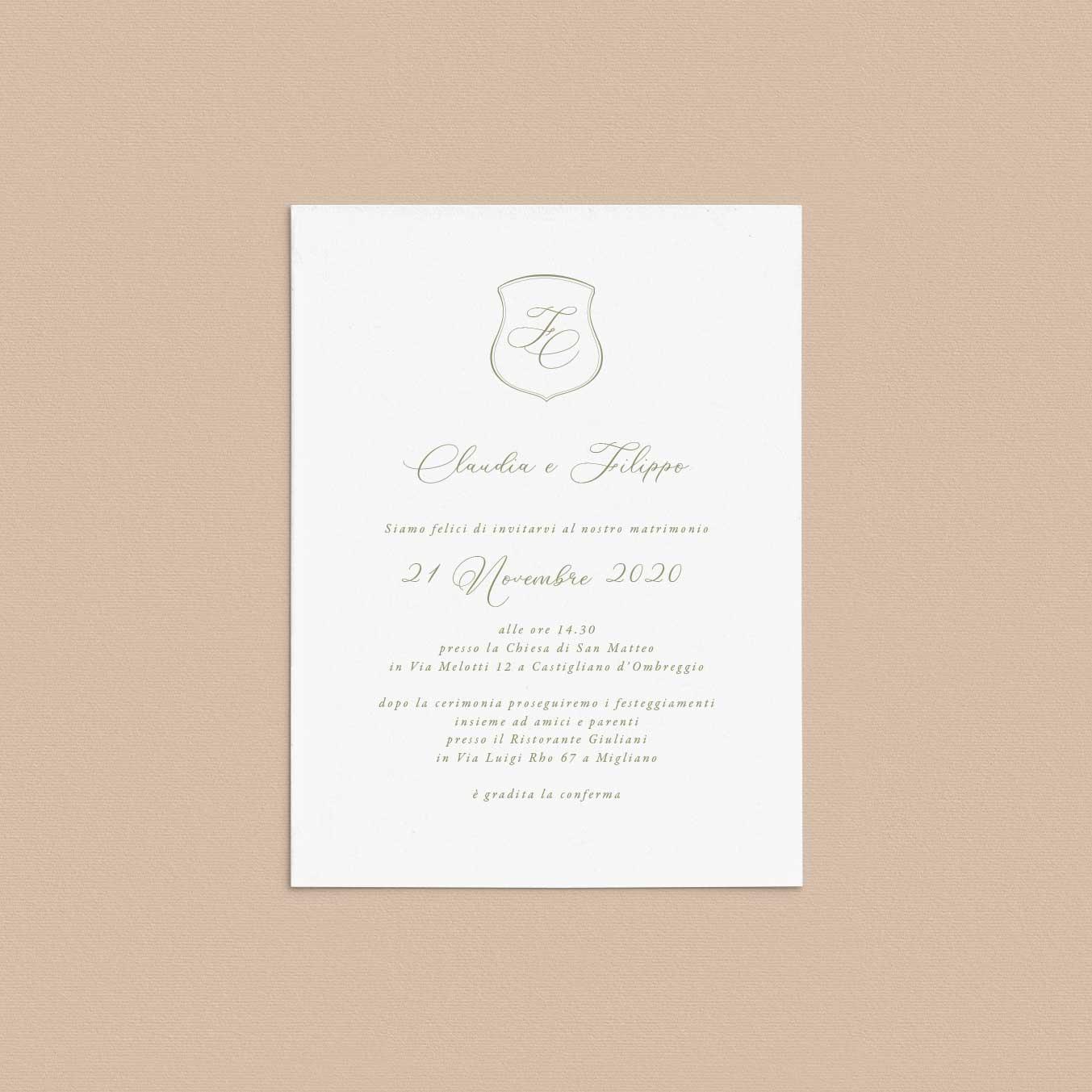 Partecipazioni-inviti-eleganti-matrimonio-2020-elegante-raffinato-crest-monogramma-monogram-classico-classic