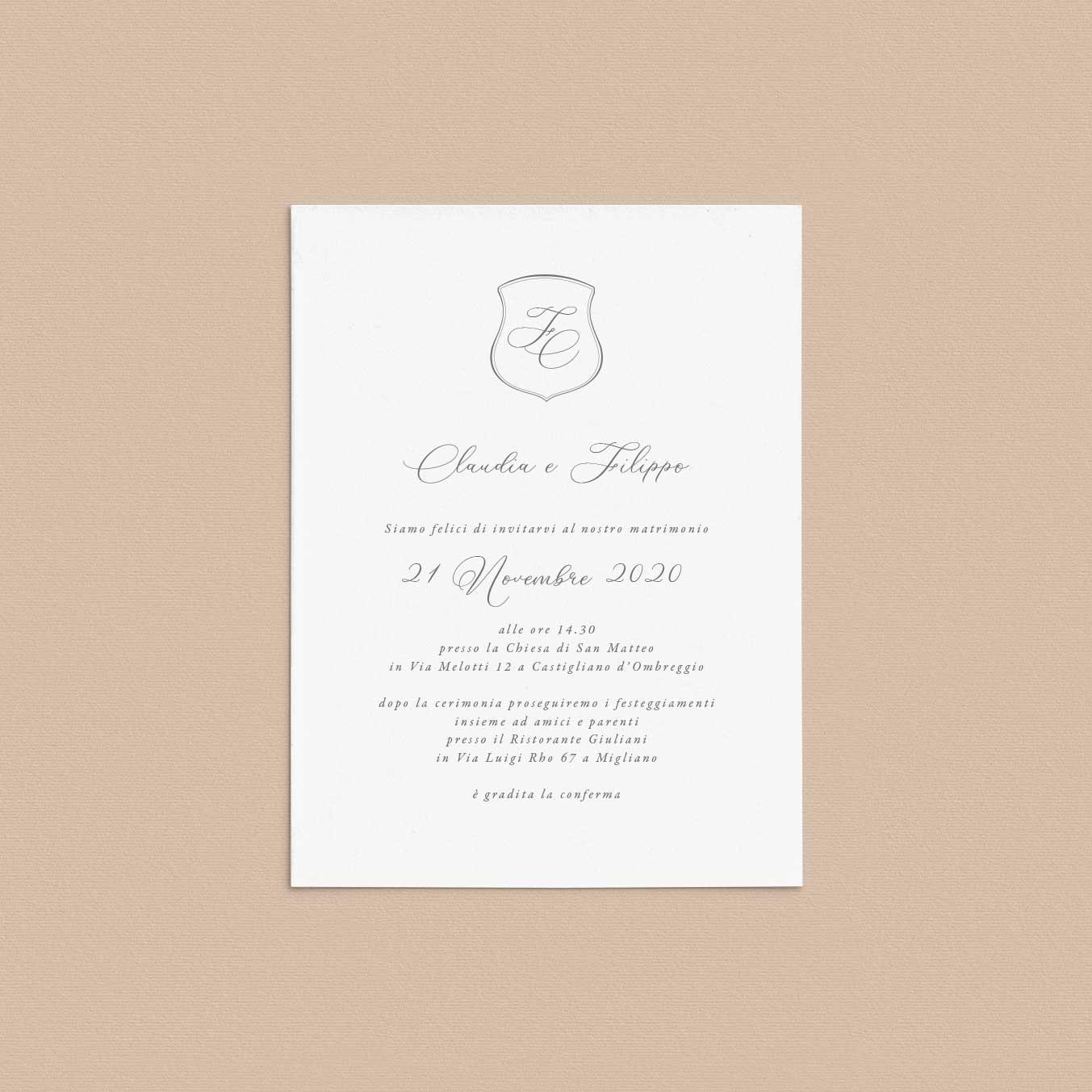 Partecipazioni-inviti-stemma-eleganti-matrimonio-2020-elegante-raffinato-crest-monogramma-monogram-classico