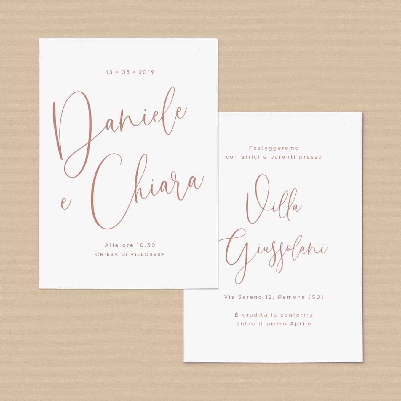 Partecipazioni-invito-matrimonio-rosa-Boho-Chic-personalizzate-moderne