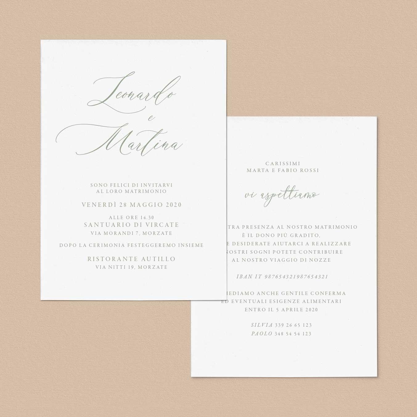 Partecipazioni-matrimonio-inviti-nozze-eleganti-elegante-raffinate-idee-fai-da-te-cartoncino-idee-online-verde-rustico-rustic-particolari-esempio