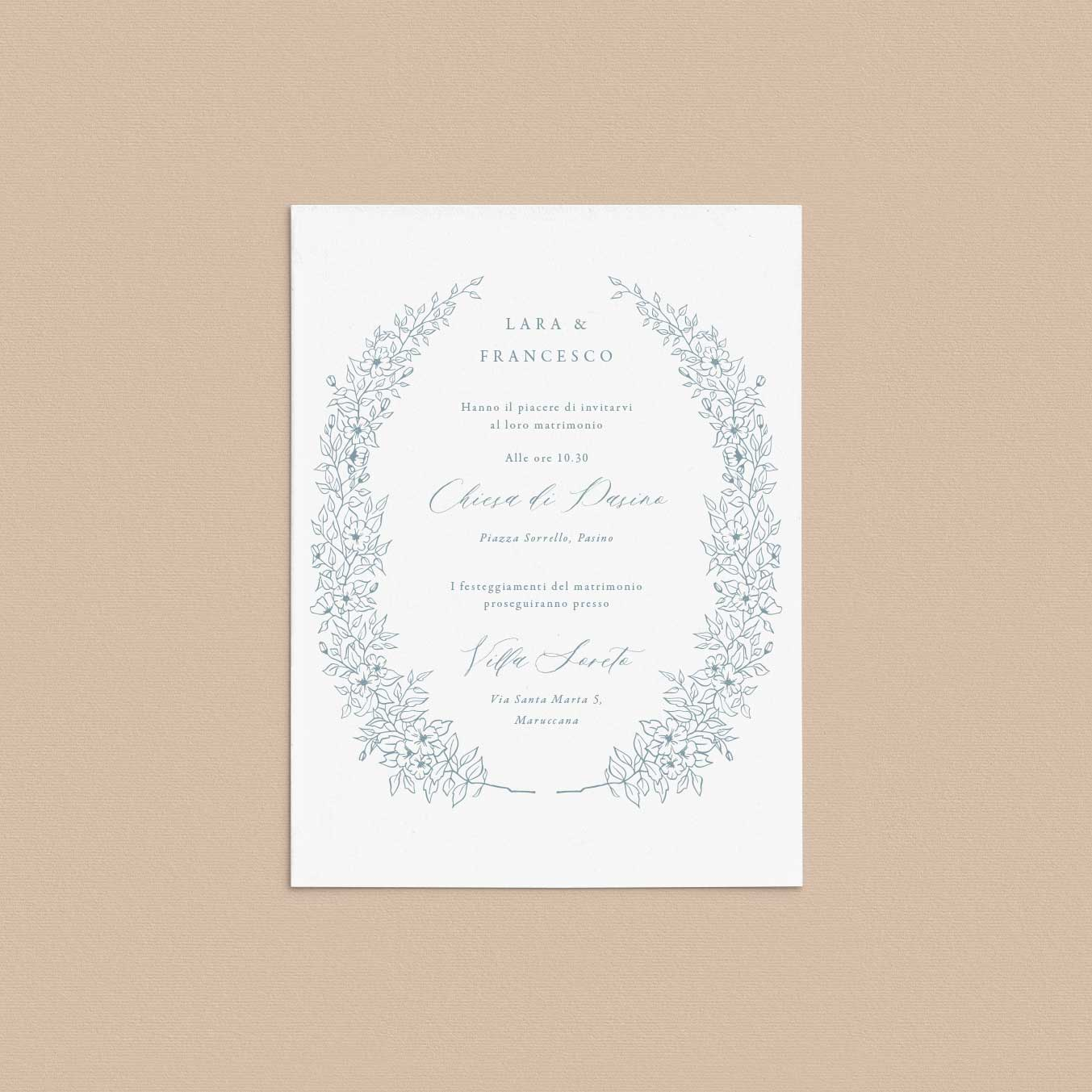 Partecipazioni-matrimonio-inviti-nozze-fiori-fiore-flower-ghirlanda-ghirlande-fiore-tema-natura-natura-chic-green-rustico-rustic-fiorellini-disegno-illustrazione-online
