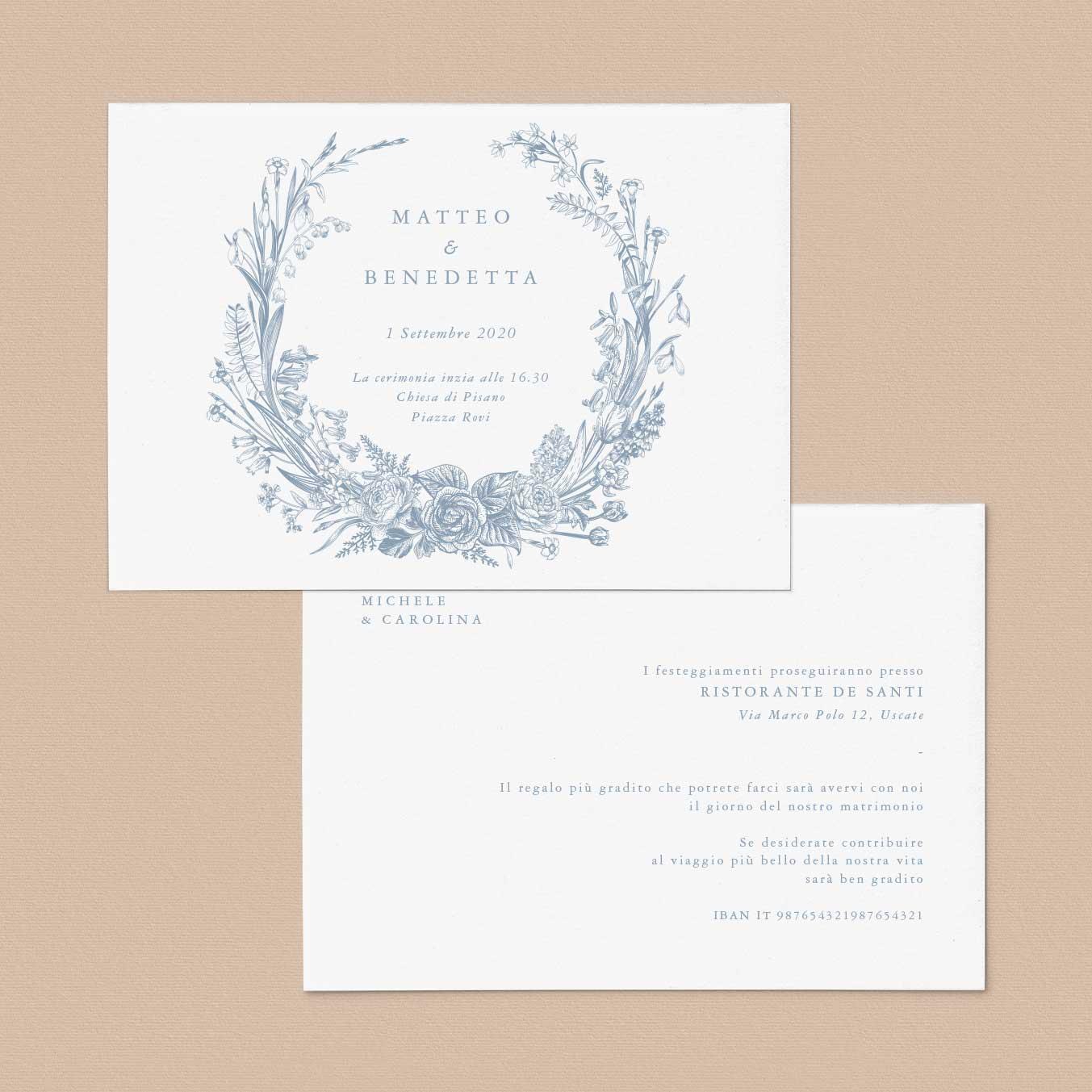 Partecipazioni-matrimonio-inviti-nozze-fiori-fiore-ghirlanda-ghirlande-fiore-tema-disegno-illustrazione-online-rose-classico-elegante