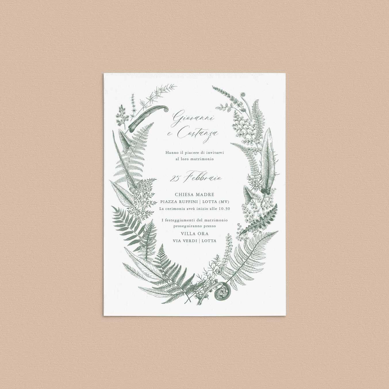 Partecipazioni-matrimonio-inviti-nozze-fiori-ghirlanda-ghirlande-fiore-tema-tema-natura-natura-chic-green-rustico-rustic-verde-country