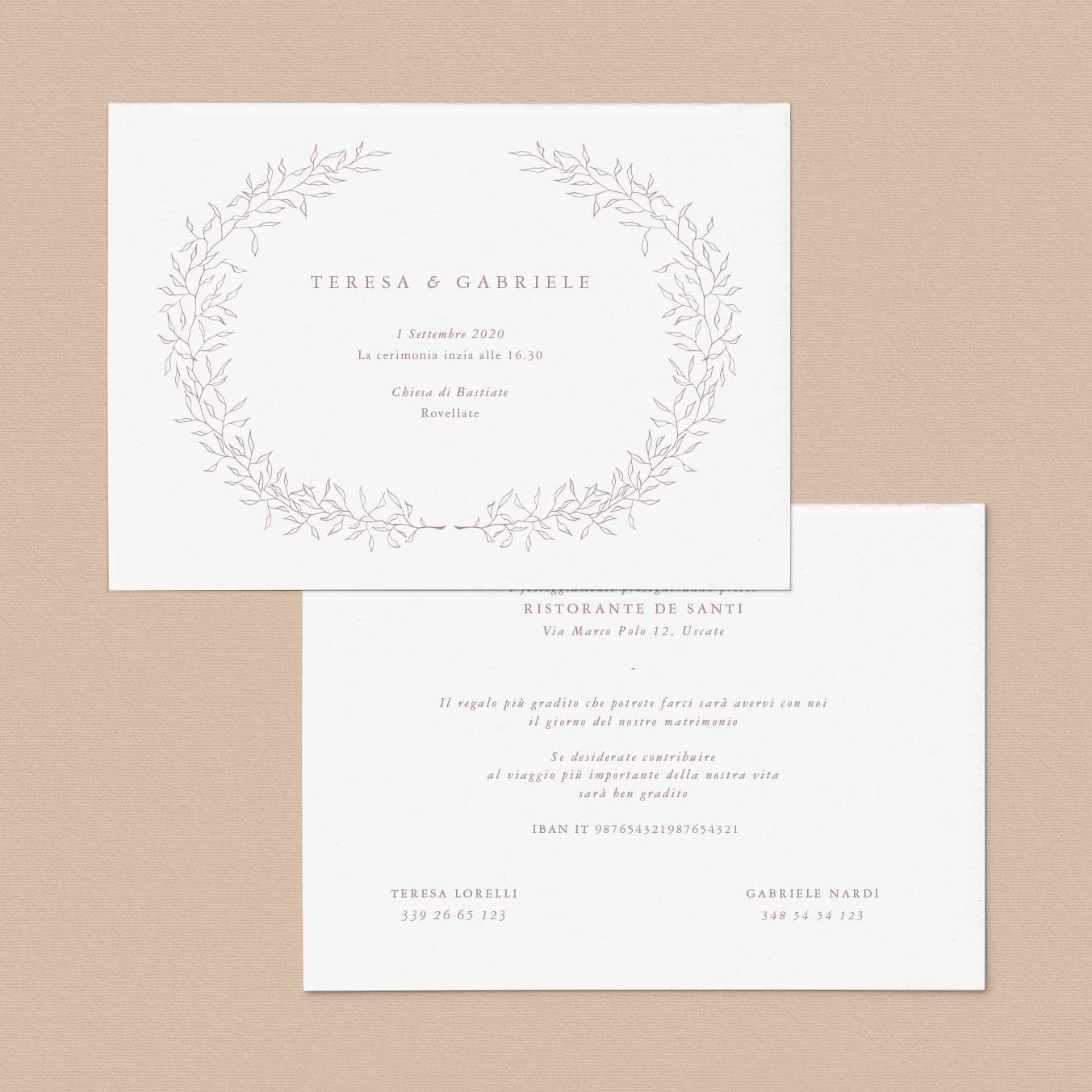 Partecipazioni-matrimonio-inviti-nozze-orizzontale-fiori-fiore-flower-ghirlanda-fiore-tema-natura-chic-green-rustico-rustic