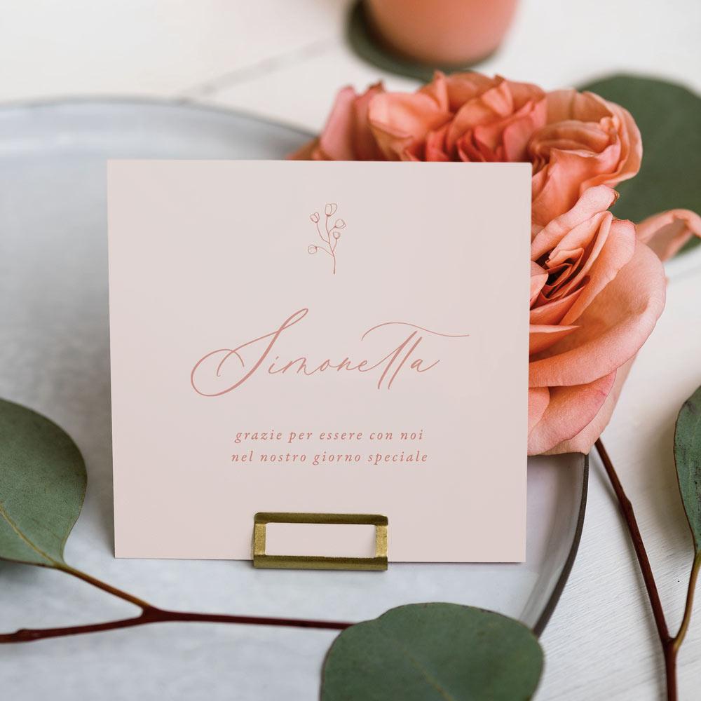 Segnaposto-place-card-nome-invitato-matrimonio-nozze-wedding-day-allestimento-pink-rosa