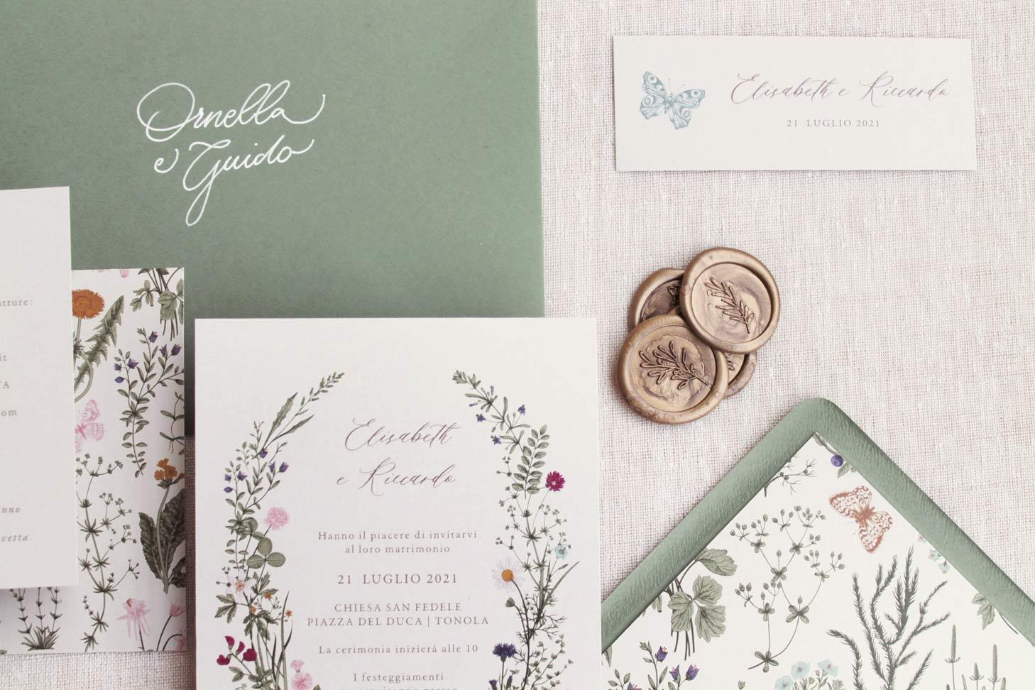 Partecipazioni-nozze-matrimonio-2021-moderne-eleganti-semplice-idea-esempio-modelli-fiori-verde-ulivo