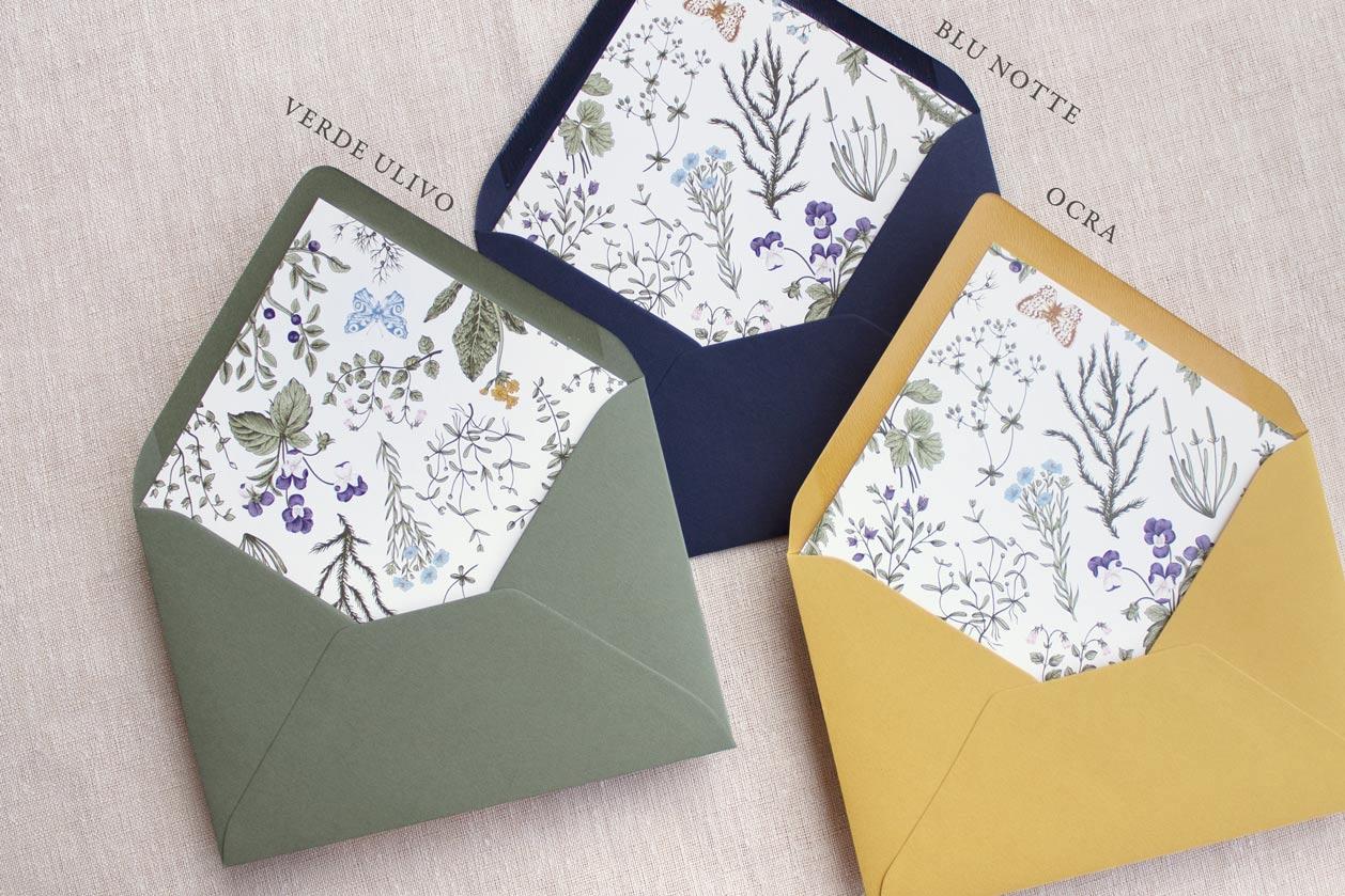 Partecipazioni-nozze-matrimonio-2021-moderne-eleganti-semplice-idea-esempio-modelli-fiori-verde-ulivo-buste-floreali