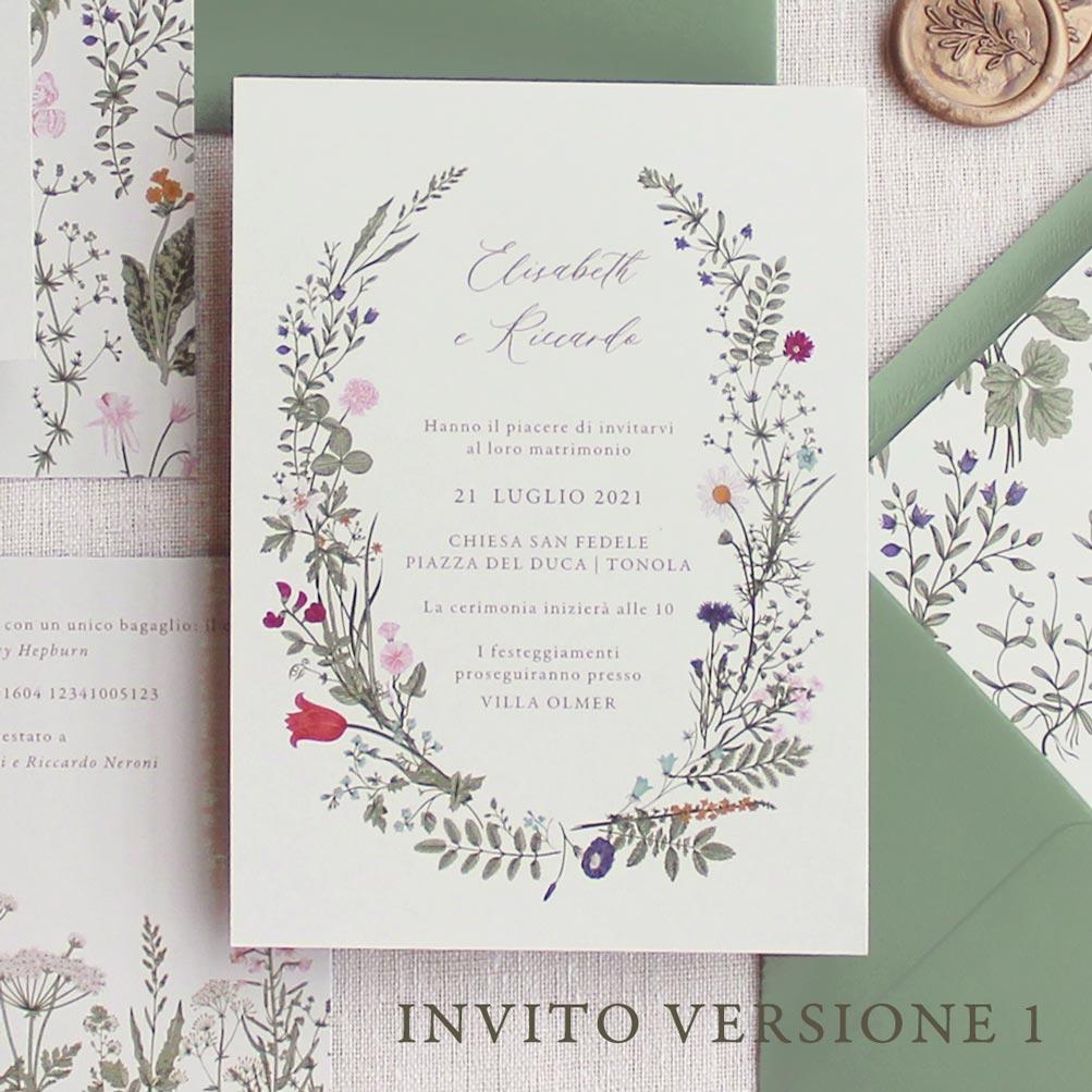 Partecipazioni-invito-nozze-matrimonio-fiori-verde-ulivo-margherite-flower-wedding-Invito-1