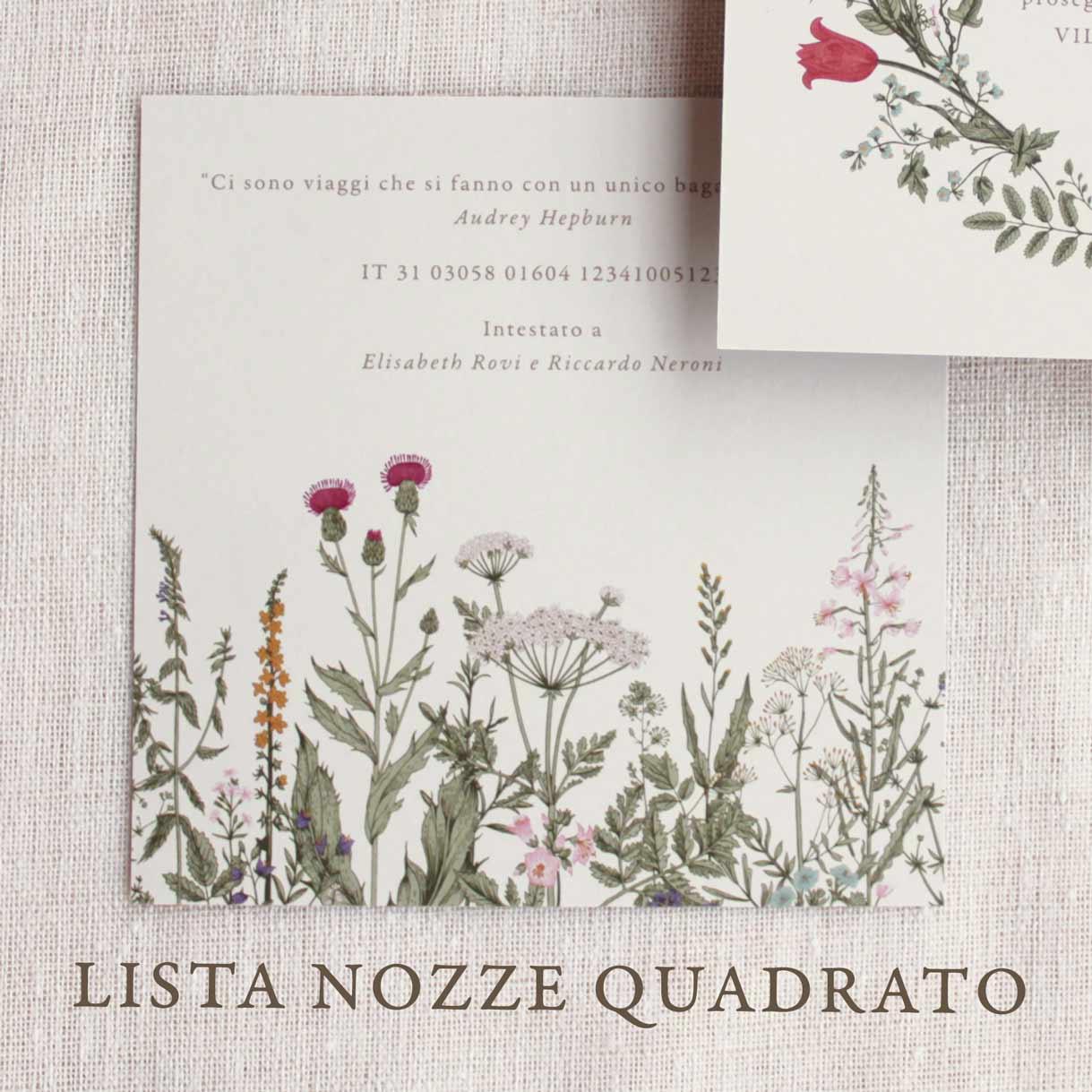 Partecipazioni-invito-nozze-matrimonio-fiori-verde-ulivo-margherite-flower-wedding-lista-nozze-iban