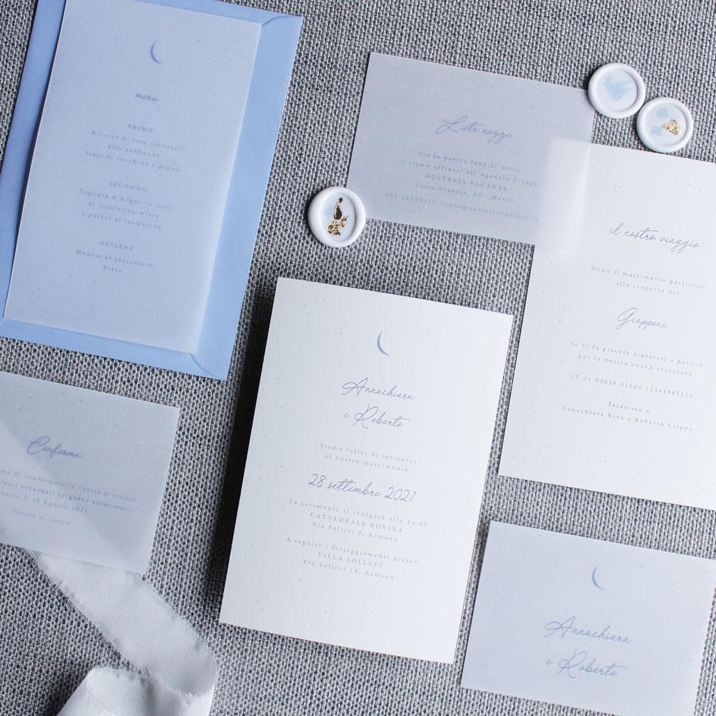 Partecipazioni-nozze-matrimonio-inviti-stelle-luna-costellazioni-blu-oro